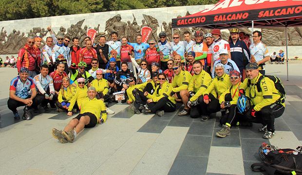Şehitlere Saygı Bisiklet Turu Tamamlandı